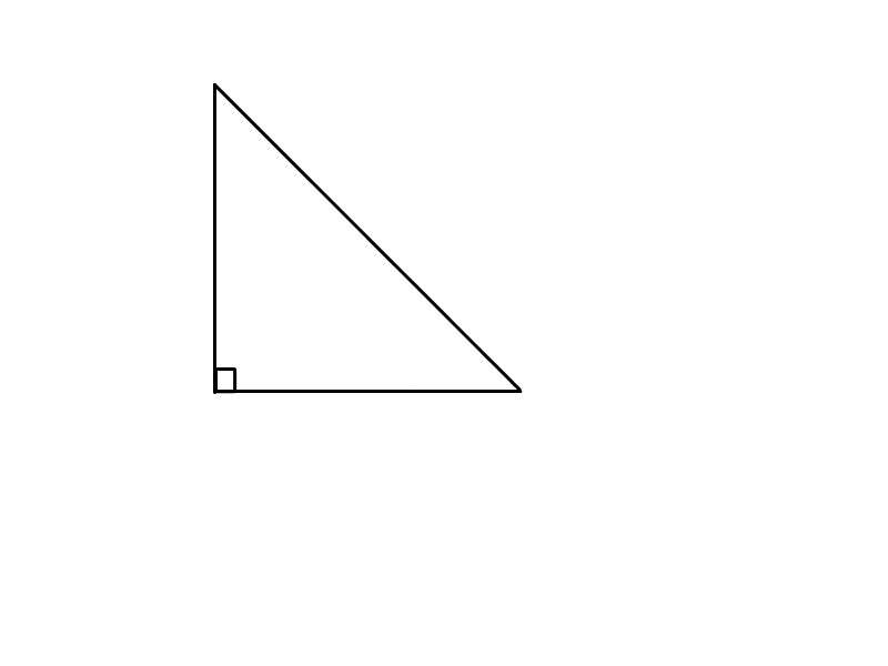 Right Angled Scalene Triangle Right angled triangle. scalene